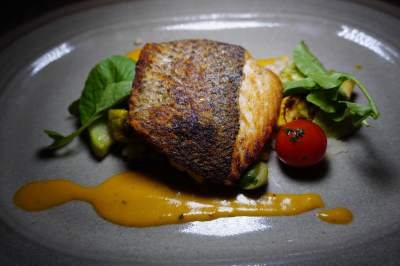 Crispy-Skin Striped Bass